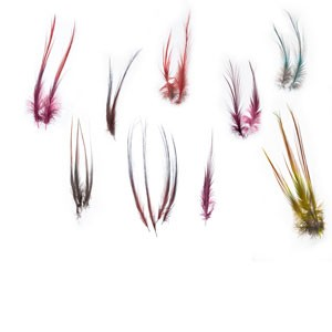 """4 /"""" Silver Doc Blue 50 HERON FEATHERS /"""" SPEY /"""" Dyed Size= 21//2 /"""""""